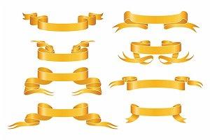 Golden ribbon set