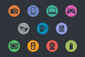 Multimedia Icons. Basics