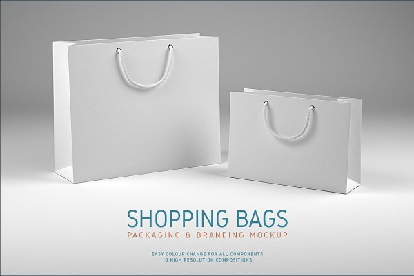Shopping Bags Mockup Psd Template All Mockups Graphic Psd Template