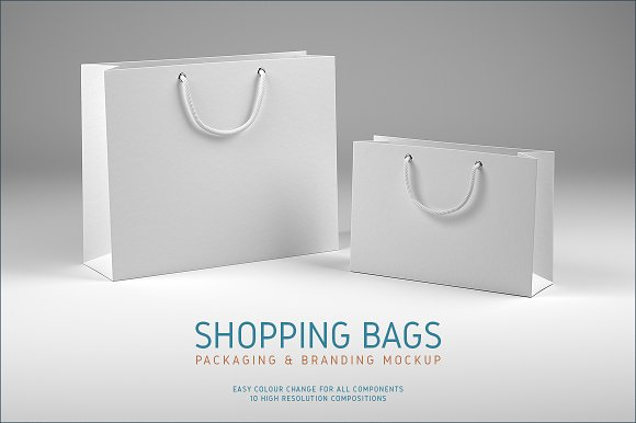 Download Shopping Bags Mockup