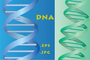 DNA - set of illustrations