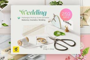 Wedding 3 Mockup Scene Creators