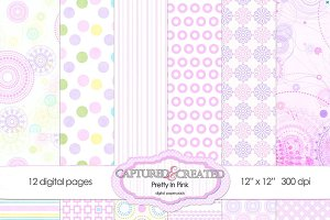 Pretty In Pink: Digital Paper 12