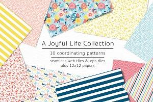 A Joyful Life-vector & jpg