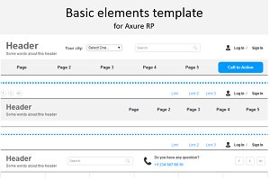 Axure template / Basic elements