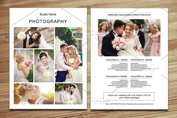 Wedding Photography Price List V349 Flyers