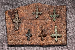 six Christian crosses