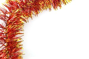 red-golden christmas background branch