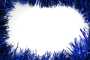 blue christmas background frame