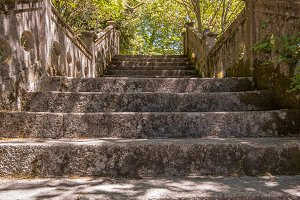 Stairs, Stone, Summer
