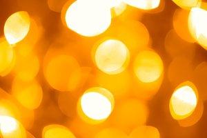 festive golden lights