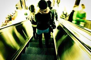 Girls on the escalator