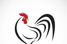 Vector of cock design.