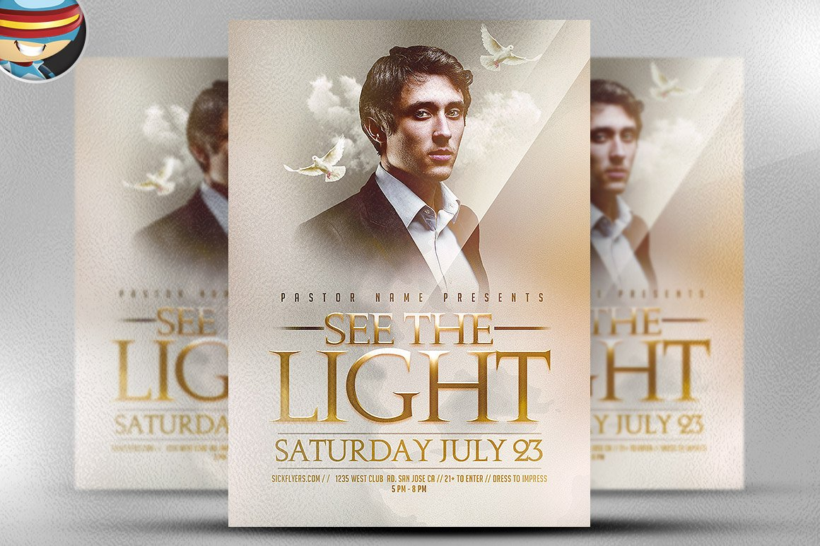 flyer heroes flyerheroes christian flyer templates collection see the light flyer template