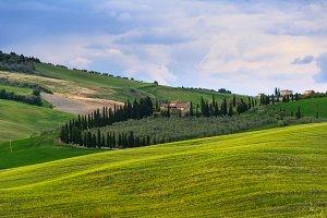 sunset Tuscany