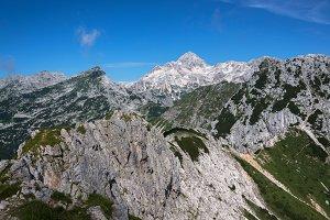 Triglav mountain on a sunny day