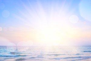 sunrise beach background