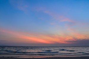 cloudy seascape
