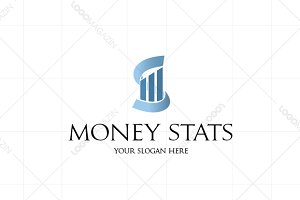 Money Stats Logo Template