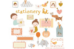 Stationery Kit Vector
