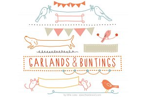 Garlands & Buntings clip art