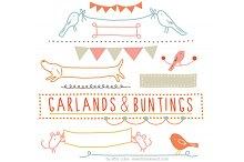 Garlands & Buntings Vector