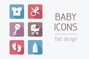 Flat Baby Icons