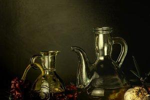 Olive oil vintage art