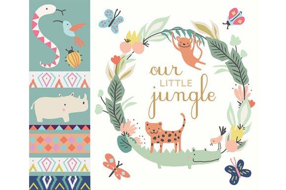 Little Jungle Clip Art