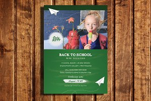 Back 2 School Mini Session Template