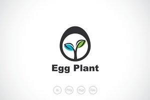Egg Plant Logo Template