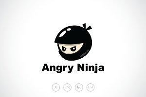 Angry Ninja Logo Template