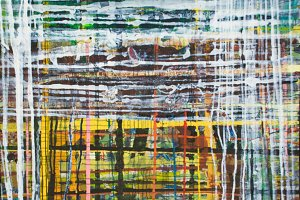Abstract Plaid Painting