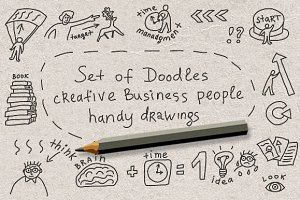 Doodles creative business people