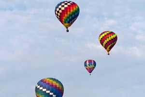 Floating Hot Air Balloons