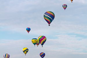 Rising Hot Air Balloons