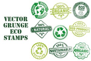 Vector Grunge Eco Stamps