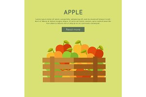 Apple Vector Web Banner