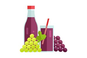 Grape Juice Concept