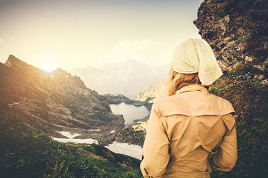 Woman Traveler trekking Travel