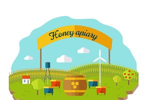 Honey Apiary Conceptual