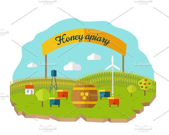 Honey Apiary Conceptual