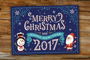 2017 Merry Christmas Greetings Card.