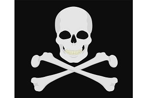 Skull with crossbones. Vector