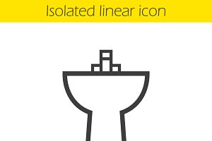 Sink linear icon. Vector