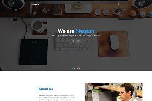Naqash - One Page Portfolio/Agency