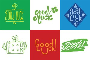 Good luck lettering set