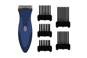 Hair clipper machine. Vector