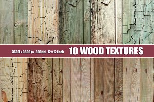 Old painted wood textures
