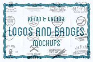 Retro and vintage logo mockups